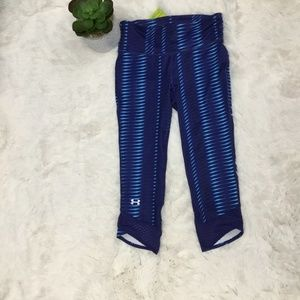 Under Armour Blue Leggings Capris Crop Sz XS NWT